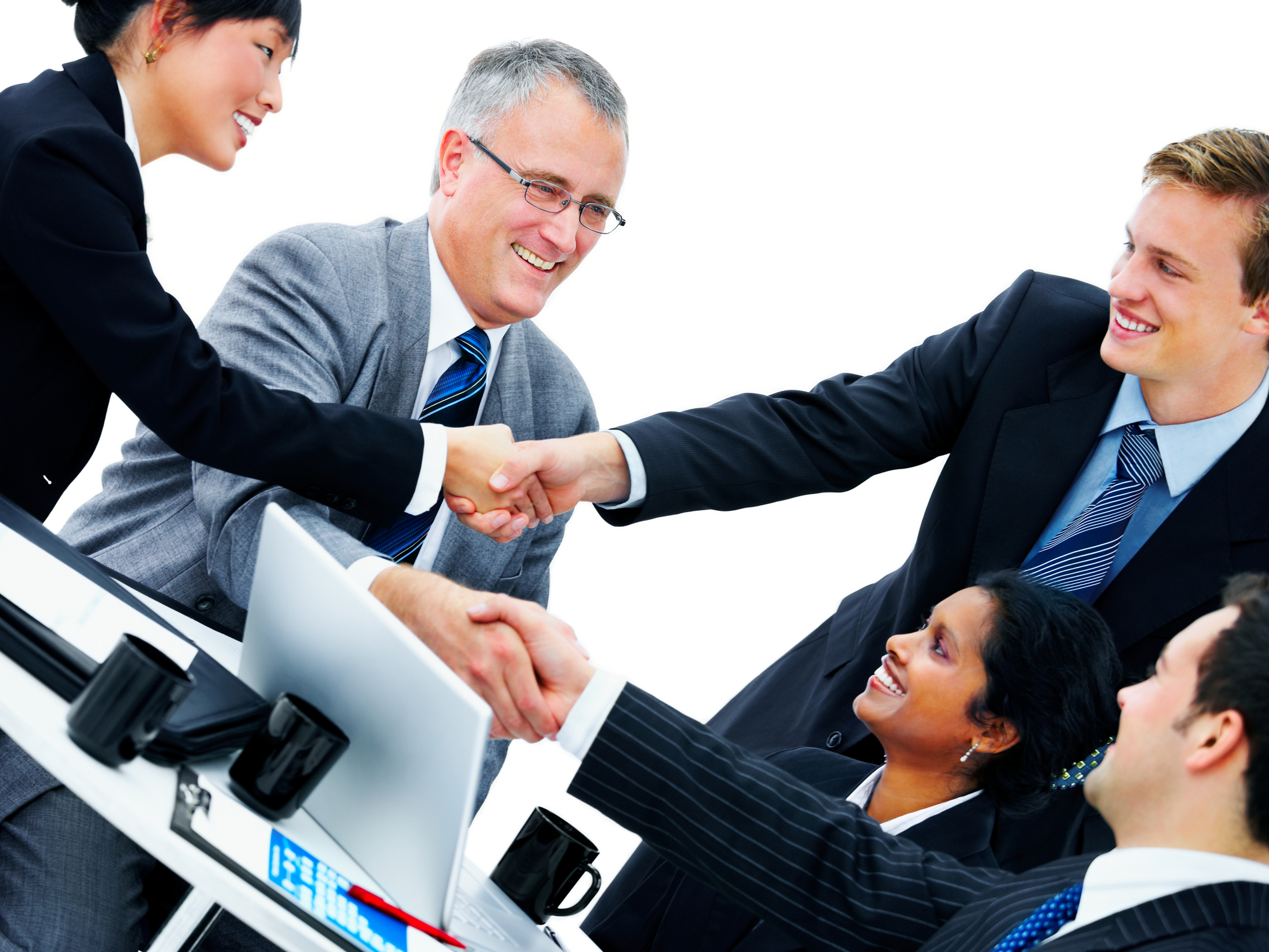 Business People Shaking Hands Silversoft