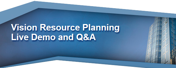 Vision Resource Planning Webinar