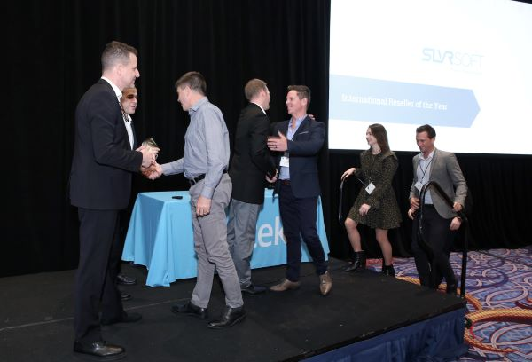The Silversoft Team receiving their award - International Reseller of the Year 2019